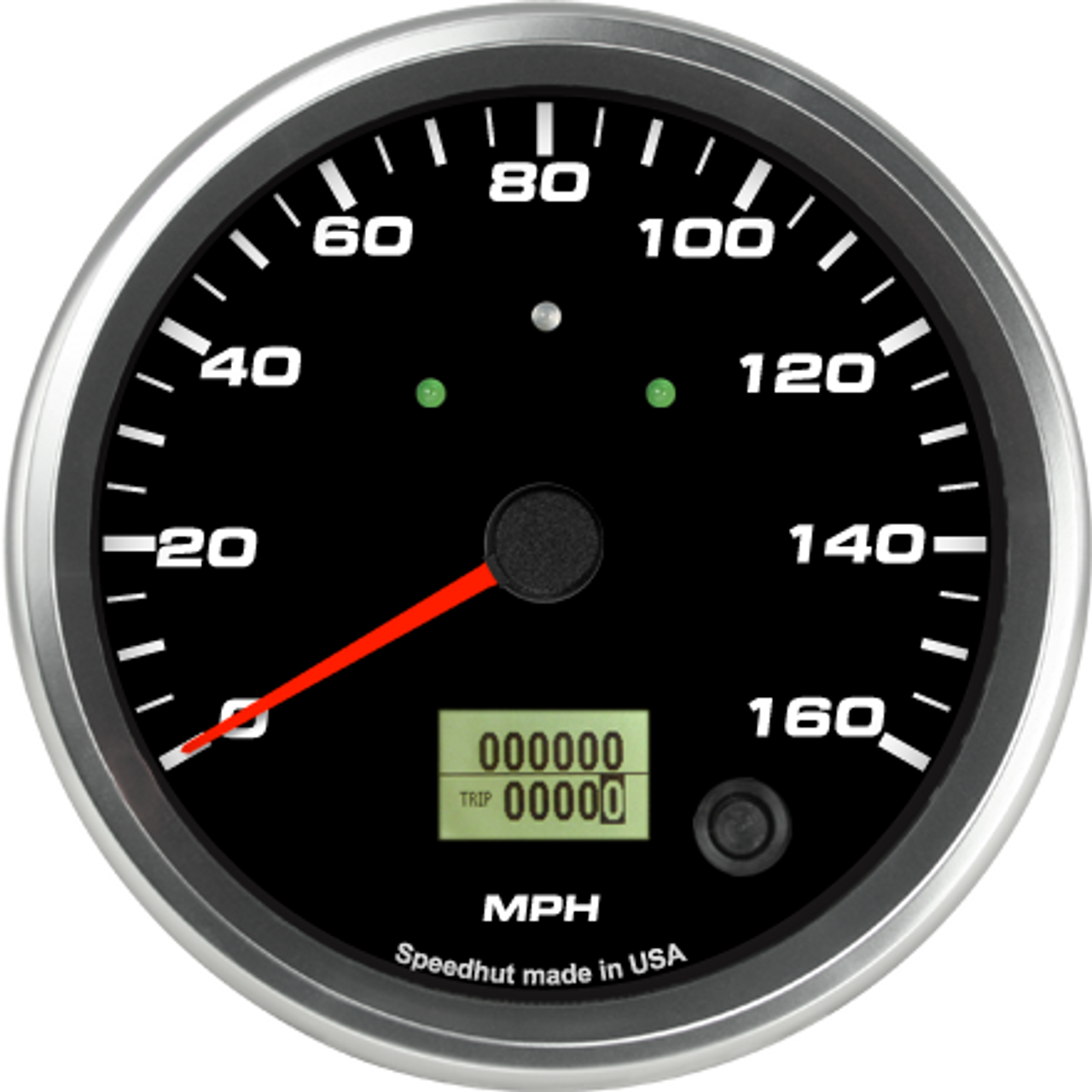 """4-1/2"""" Speedometer 160mph programmable (w/ turn signal and high beam)"""