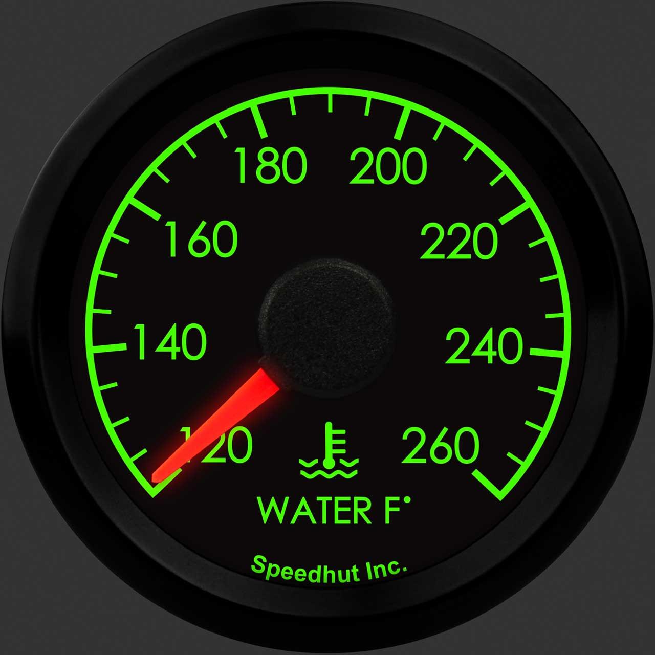 """2-1/16"""" Humvee Water Temp Gauge 120-260F"""