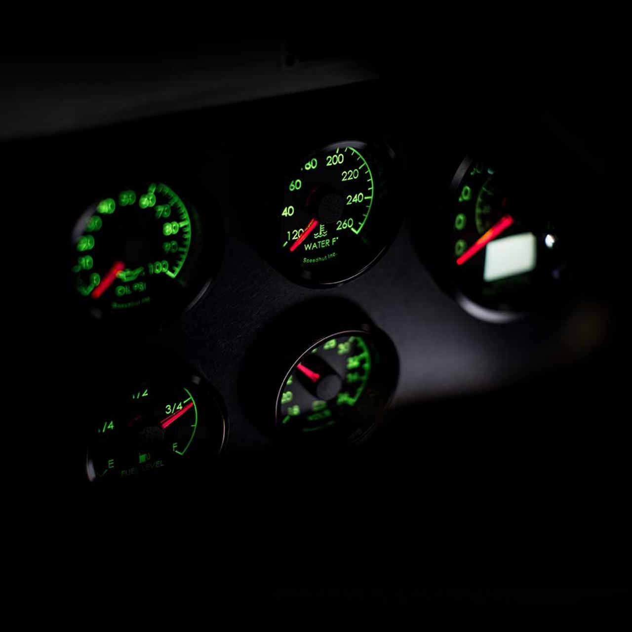 5 Gauge Kit - Humvee - GPS Speedometer, Oil psi, 18-36 Volt, Water Temp, Fuel Level