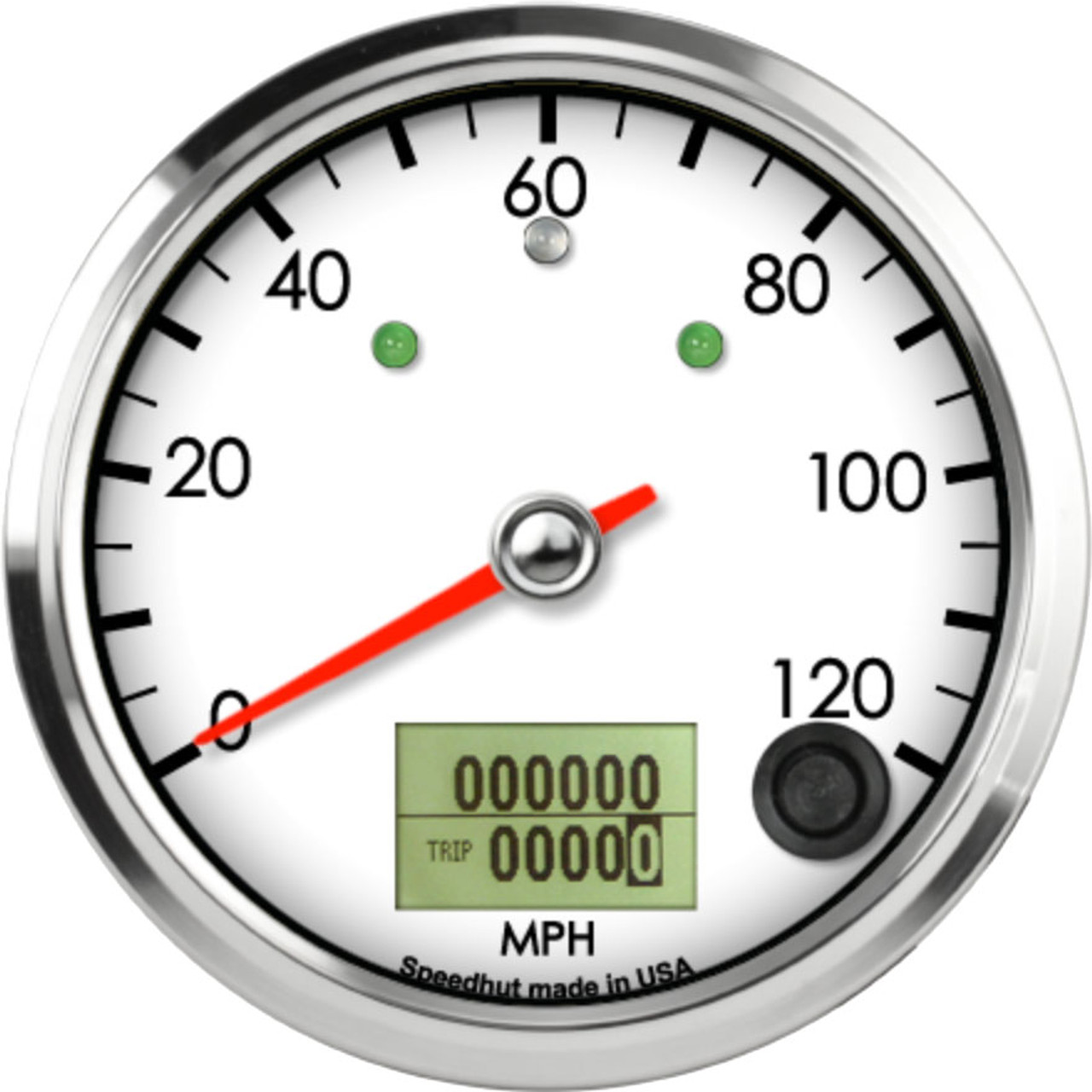 """3-3/8"""" Classic Speedometer 120mph programmable (w/ turn signal and high beam)"""