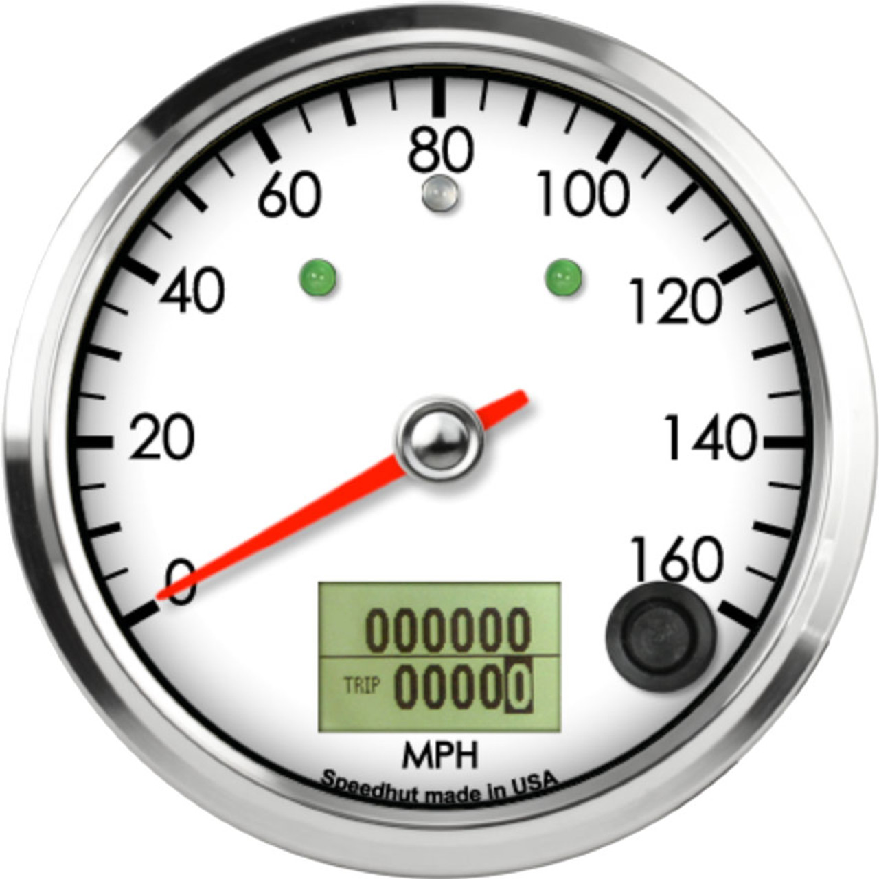 """3-3/8"""" Classic Speedometer 160mph programmable (w/ turn signal and high beam)"""