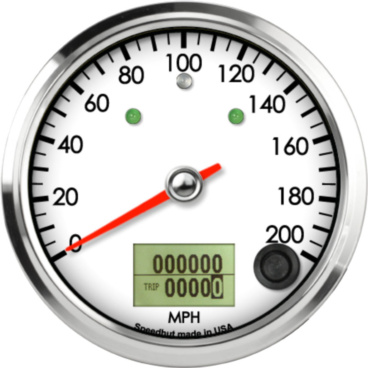 """3-3/8"""" Classic Speedometer 200mph programmable (w/ turn signal and high beam)"""
