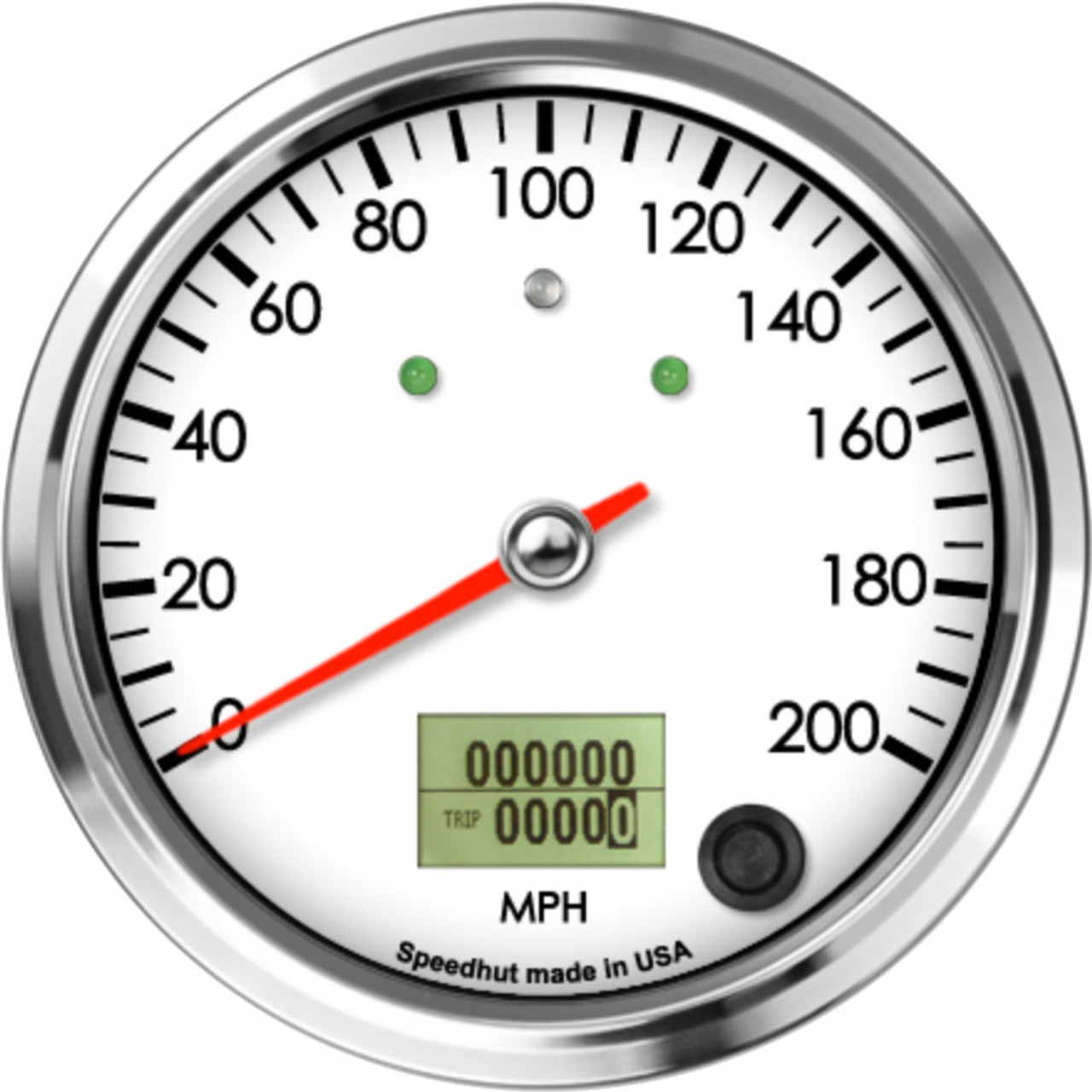 """4"""" Classic Speedometer 200mph programmable (w/ turn signal and high beam)"""