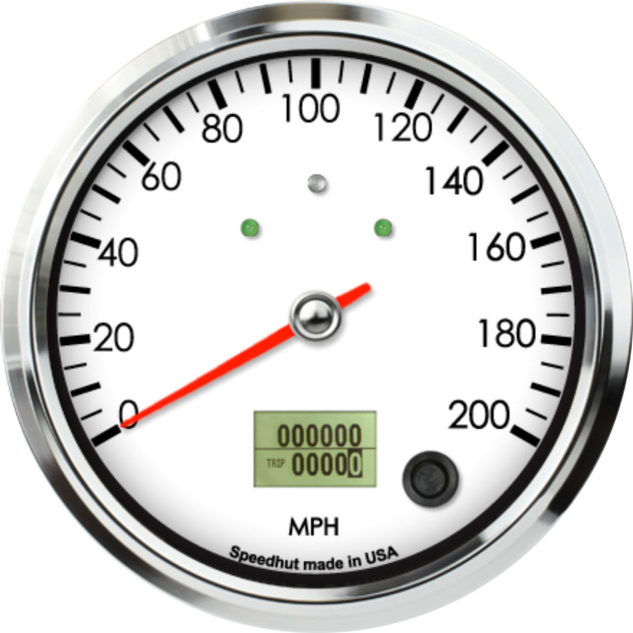 """4-1/2"""" Classic Speedometer 200mph programmable (w/ turn signal and high beam)"""