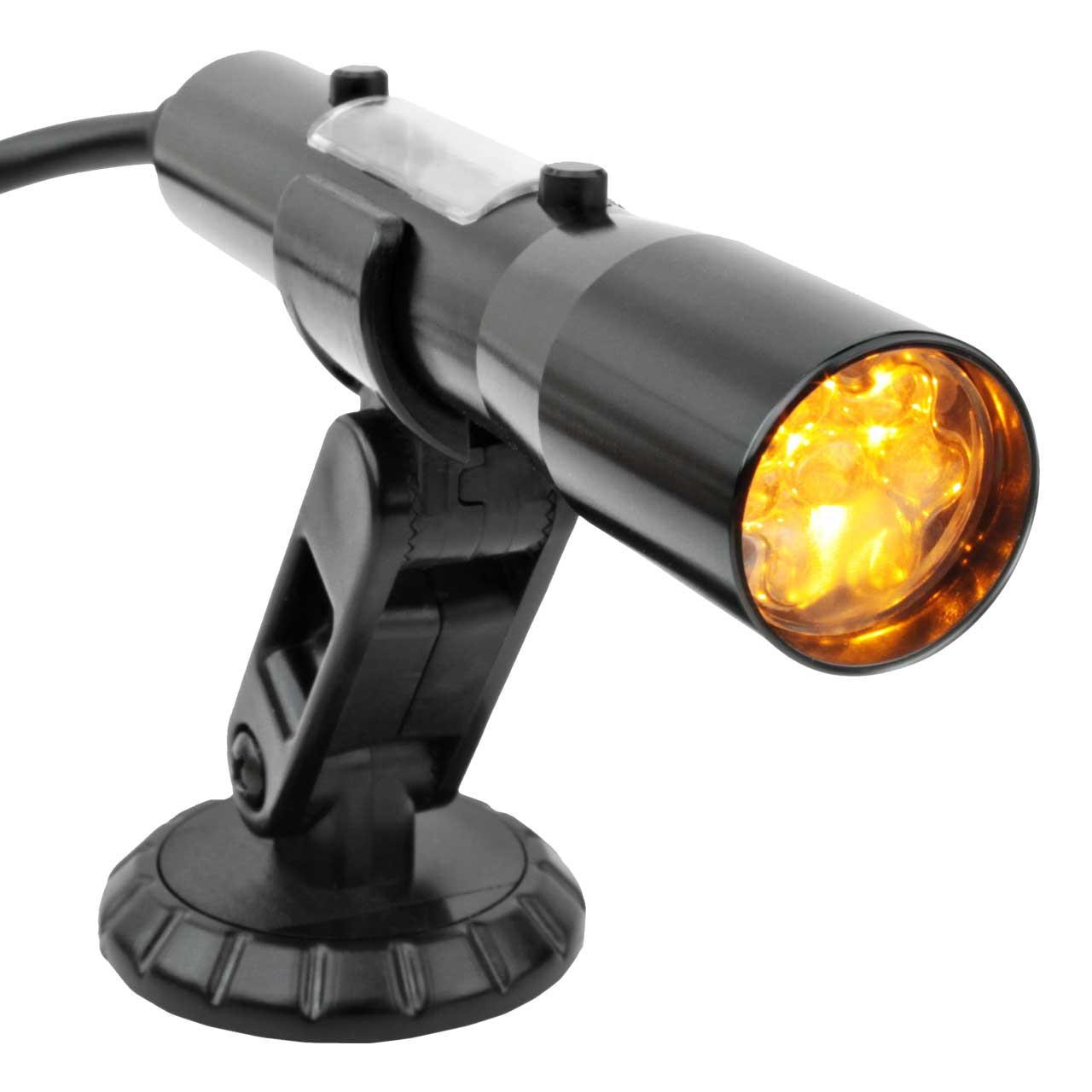 SST Shift Light - Yellow LEDs with Black Aluminum Tube (Smart-Shift Technology)