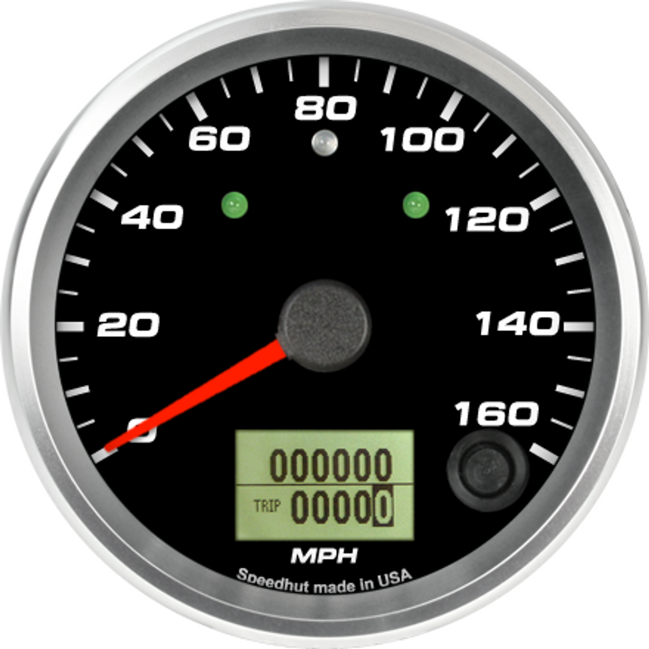 """3-3/8"""" Speedometer 160mph programmable (w/ turn signal and high beam)"""