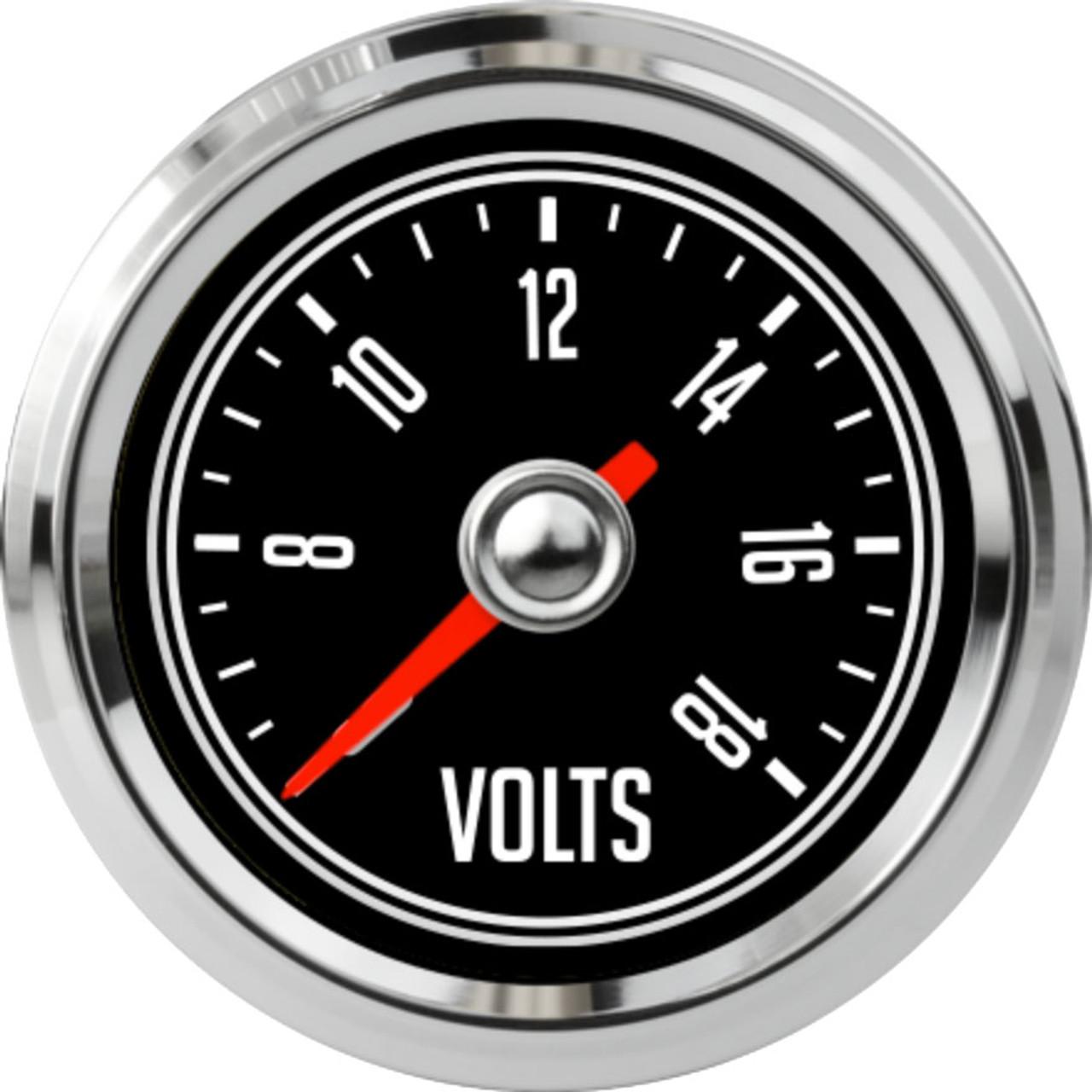 """2-1/16"""" CJ Jeep Volt Gauge 6-18V"""