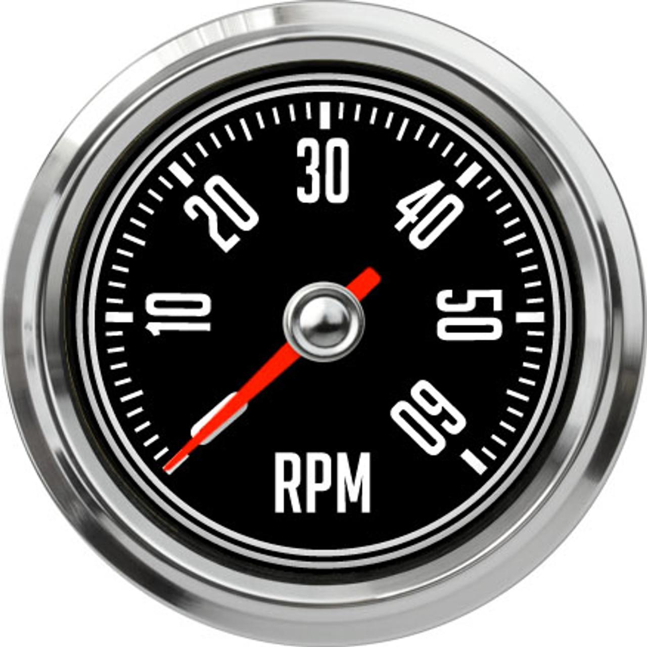 """2-5/8"""" CJ Jeep Tachometer 6K RPM"""