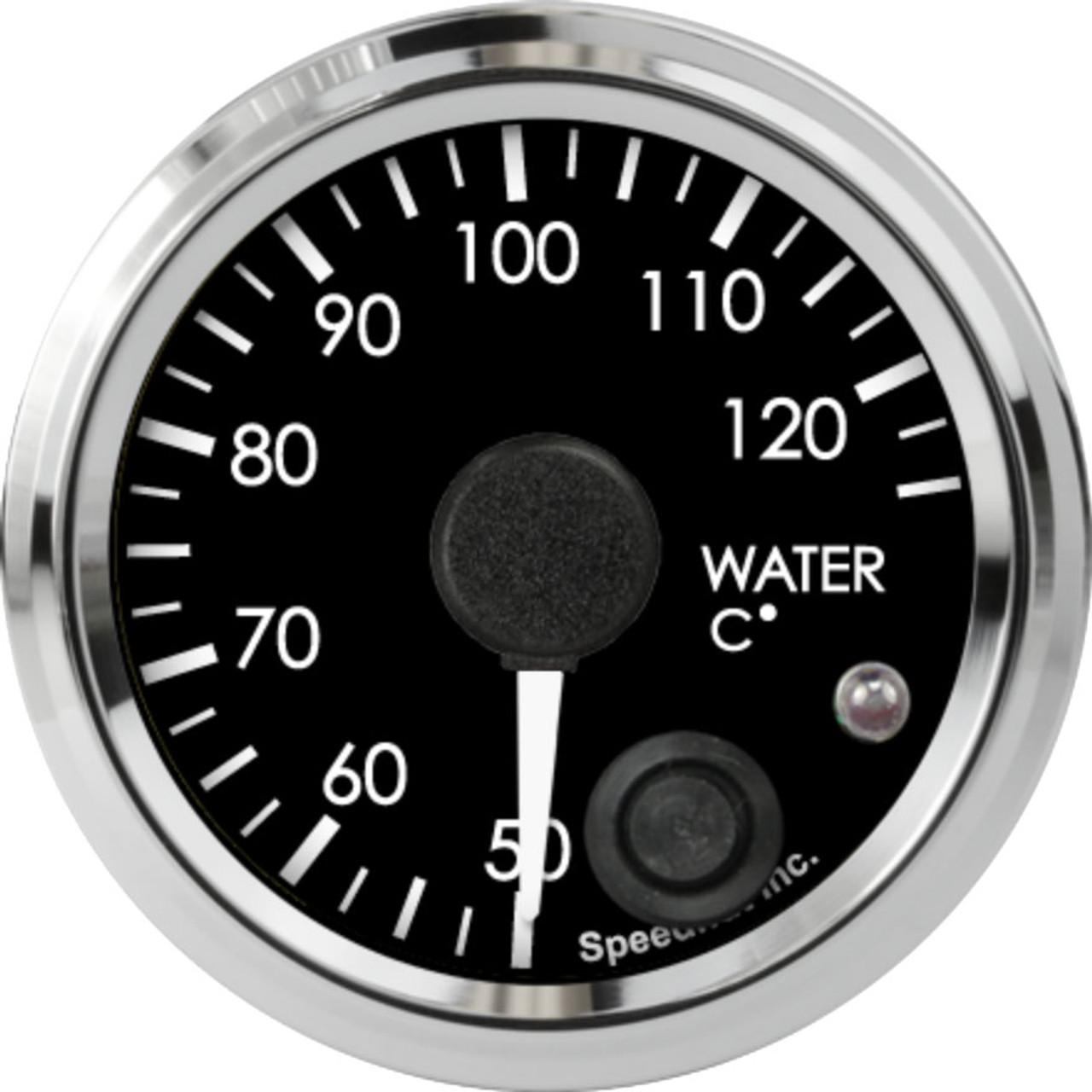 "2-1/16"" Freedom CAN-BUS Water Temp Gauge 50-125C Metric (w/ warning)"
