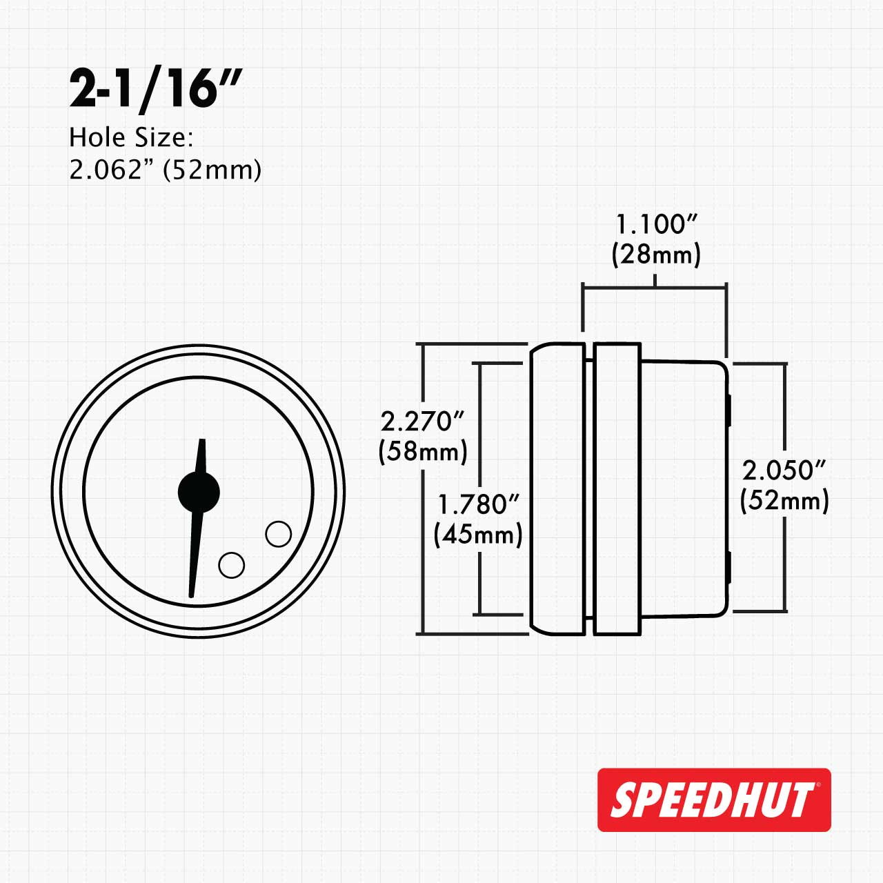 """2-1/16"""" Freedom CAN-BUS Oil Pressure Gauge 0-100psi (w/ warning) (For GM vehicles only)"""