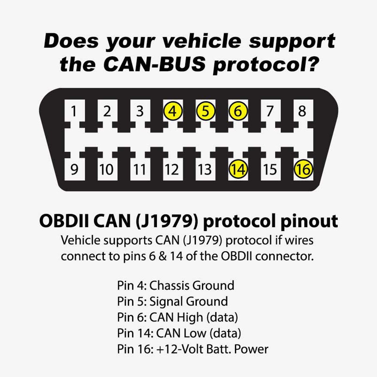 Freedom CAN-BUS Gauge Series OBD2 Harness (with OBD2 Connector)