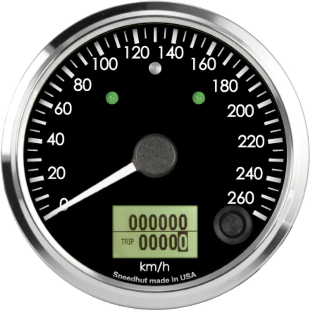 """3-3/8"""" Freedom CAN-BUS Speedometer 260 km/h Metric (w/turn signal and high beam)"""