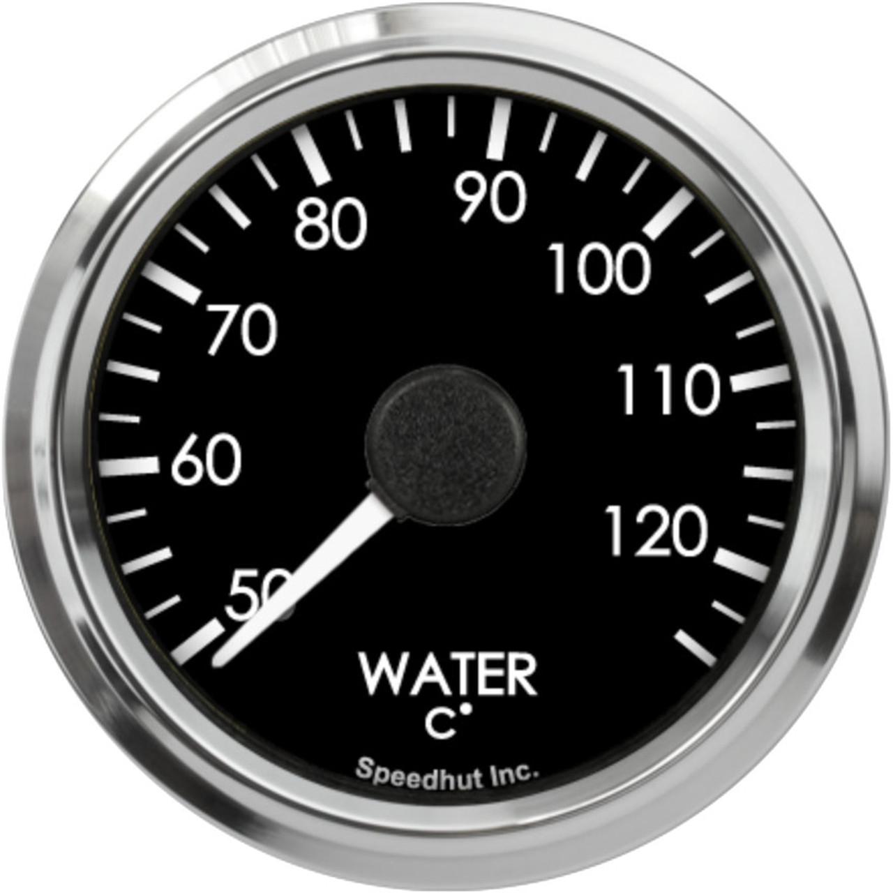 "2-5/8"" Freedom CAN-BUS Water Temp Gauge 50-125C Metric"