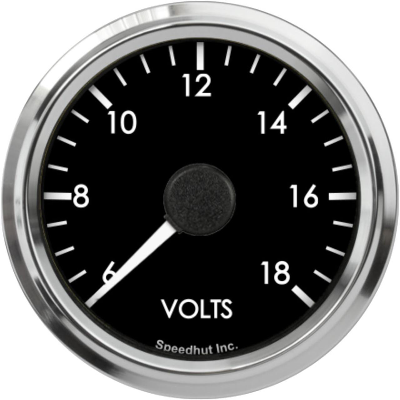 """2-5/8"""" Freedom CAN-BUS Volt Gauge 6-18V"""