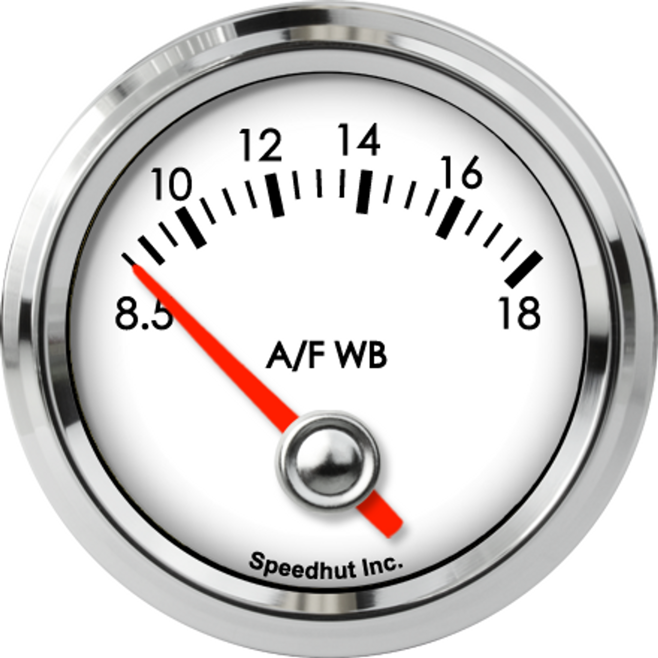 """2-1/16"""" Classic Air/Fuel Gauge Wide Band 8.5-18 (FOR AEM) (90 Degree Sweep)"""