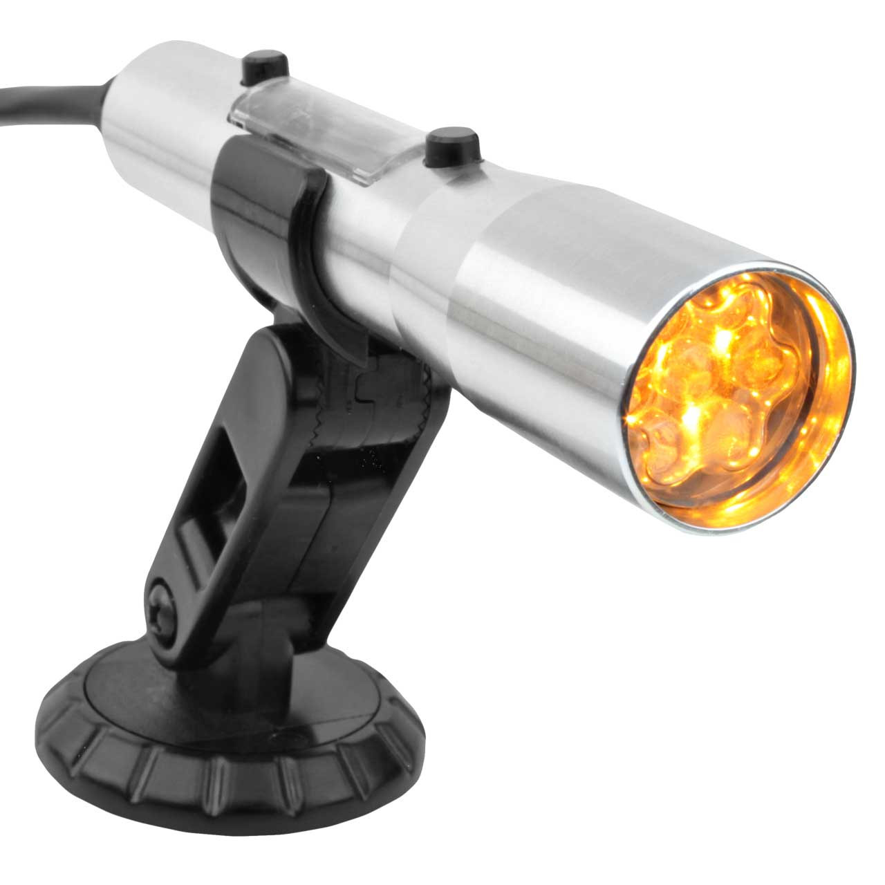 SST-MAX OBDII Shift Light Yellow LEDs- Silver Tube (Compatible with 2008 and newer vehicles)