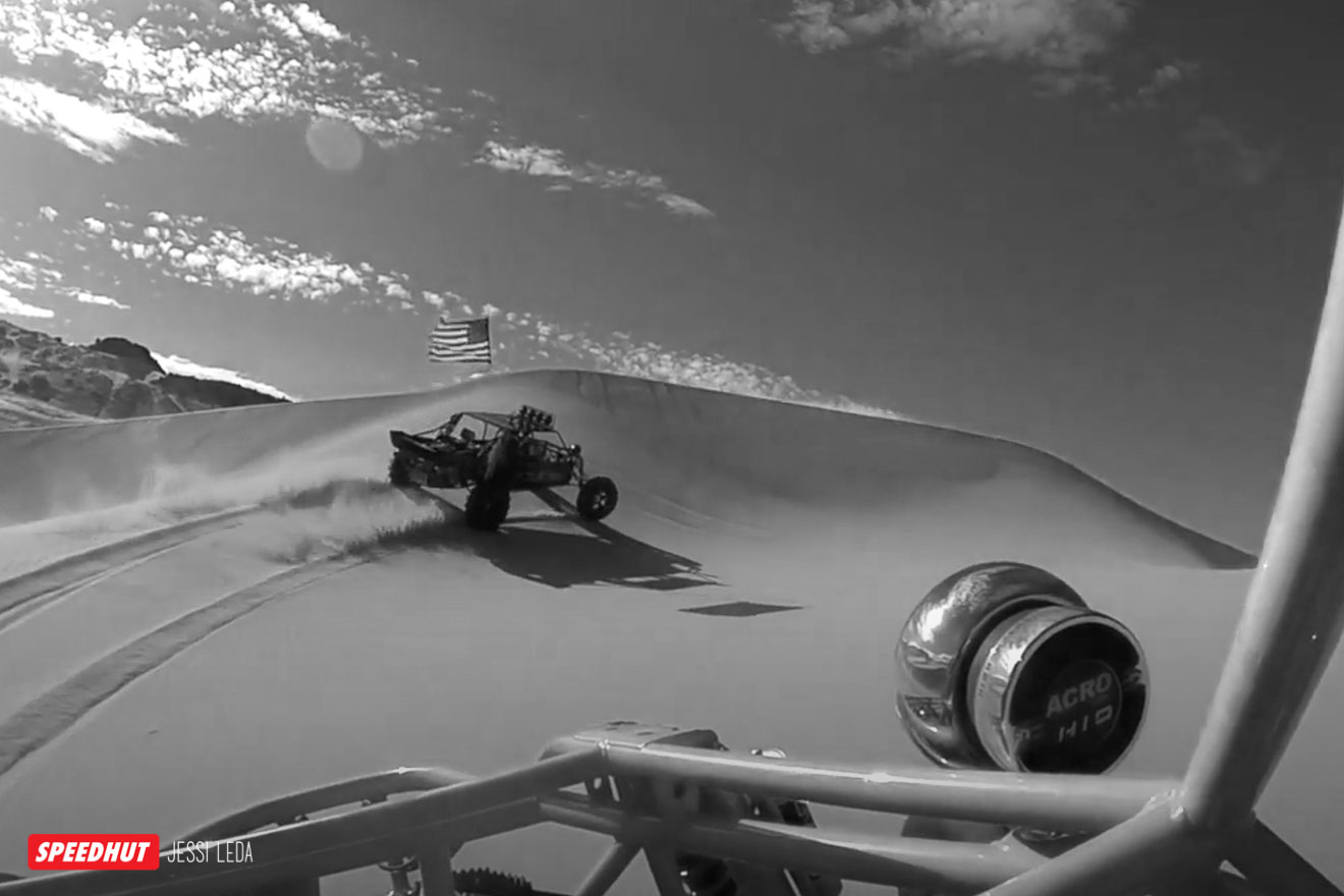 dune buggy in the sand dunes