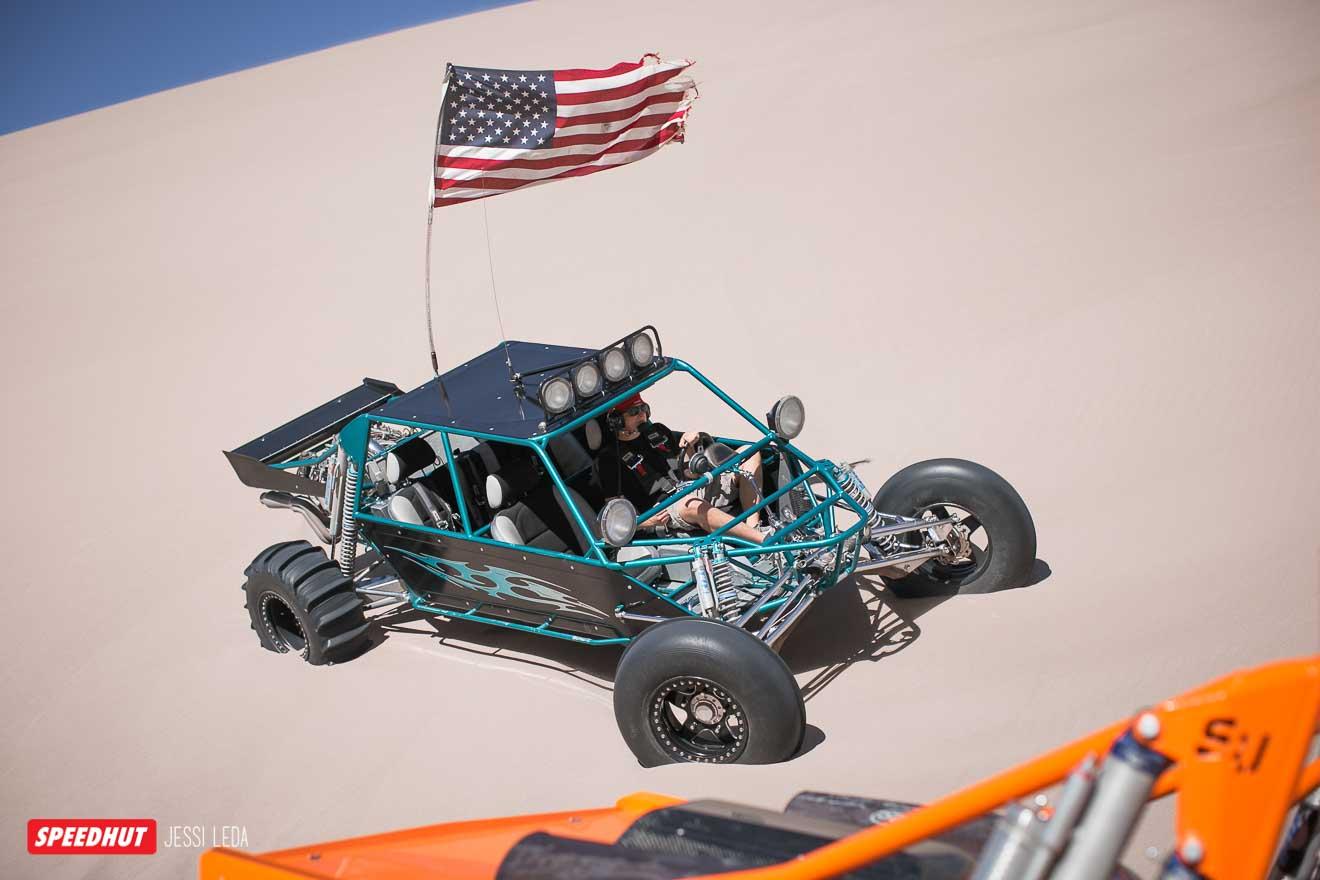 dune buggy in sand dunes