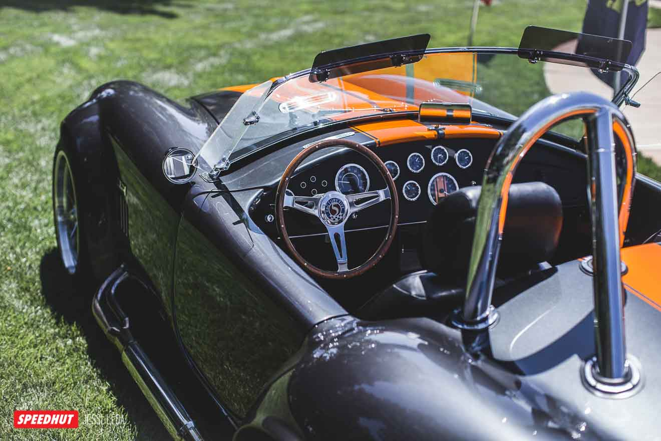 image of shelby cobra dashboard from rear