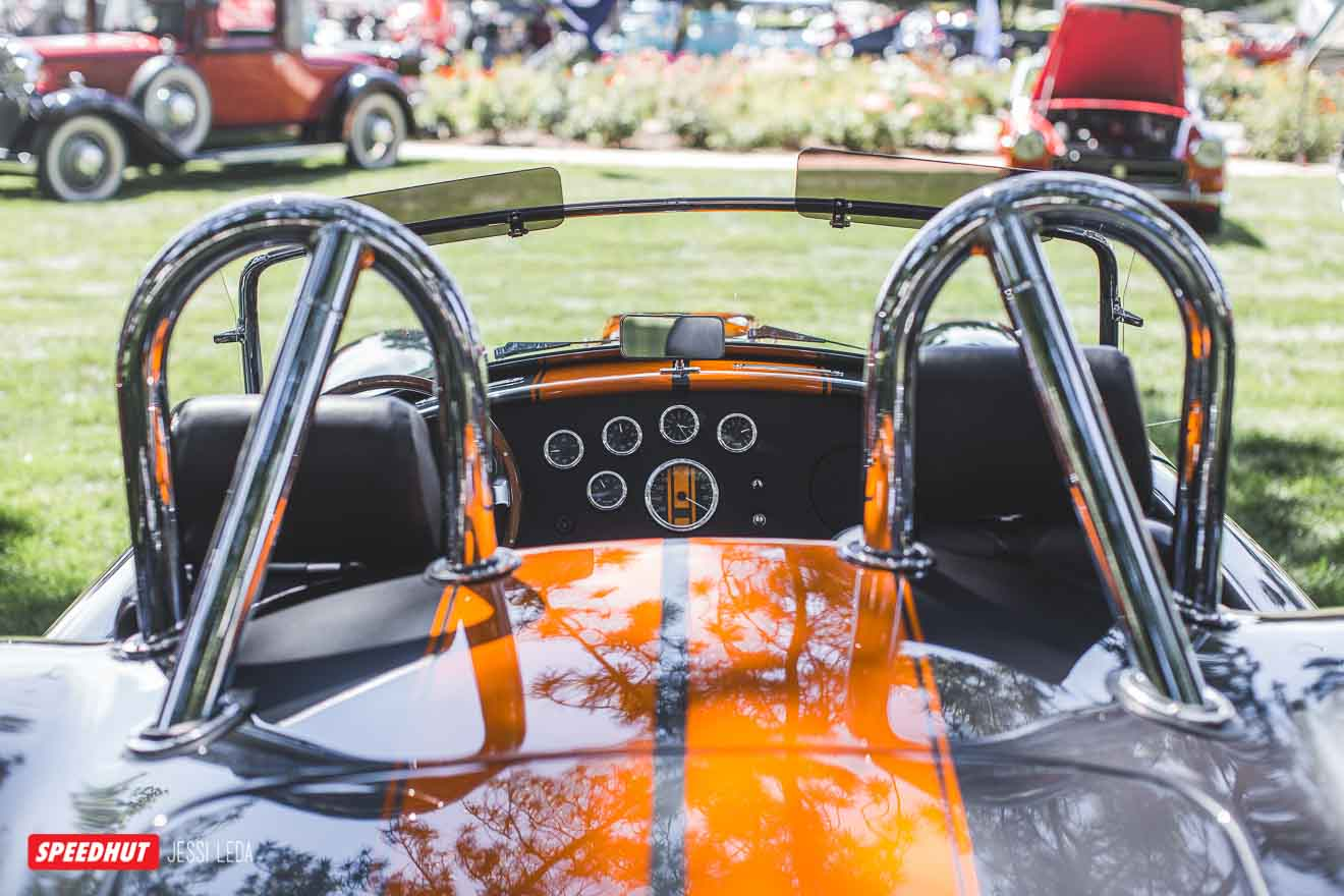 shelby cobra dashboard from rear image