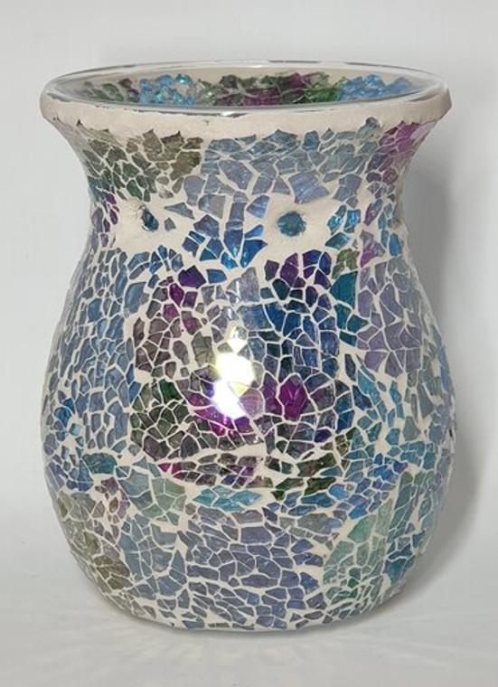 Mosaic Tealight Burner - Rainbow Sparkle