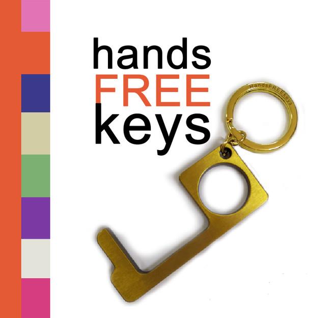 Bronze coated Multi Use Push and Pull Key