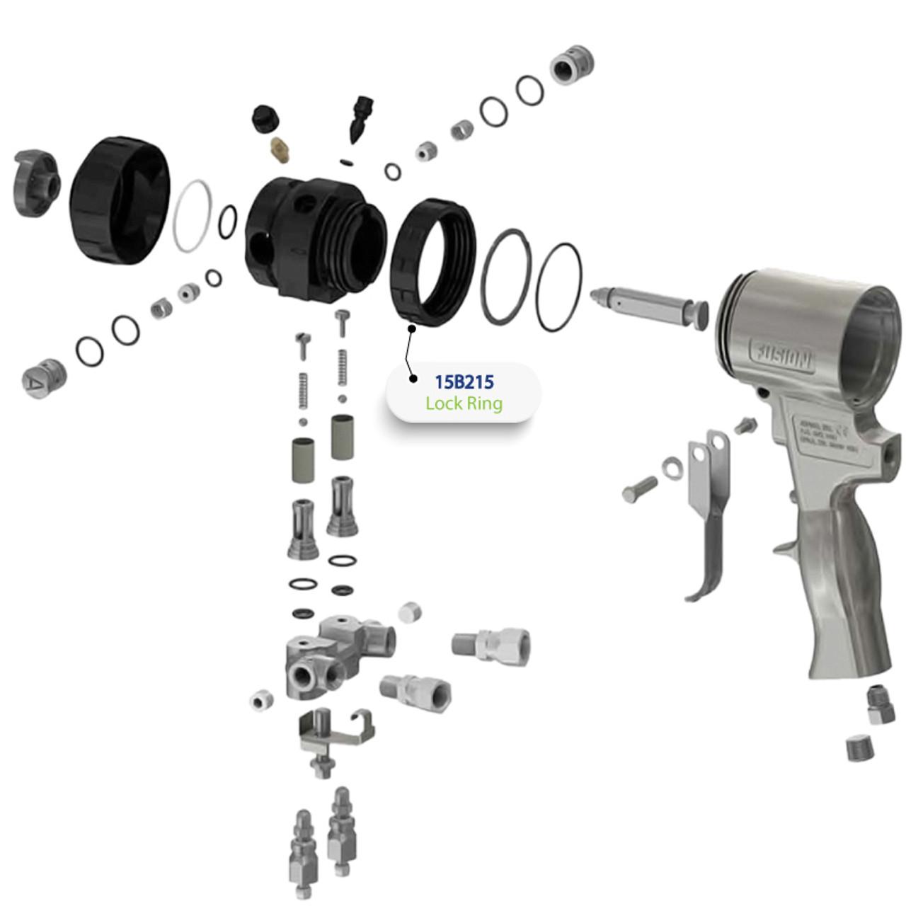 Lock Ring for Graco Fusion Air Purge (AP) Spray Gun