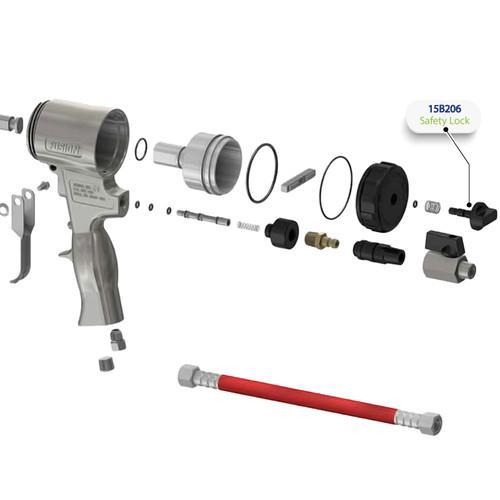 Safety Stop (Lock) for Graco Fusion Air Purge AP Spray Gun