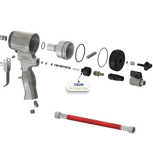 Air Valve for Graco Fusion Air Purge (AP) Spray Gun