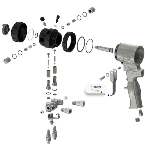 Trigger for Graco Fusion Air Purge (AP) Spray Gun
