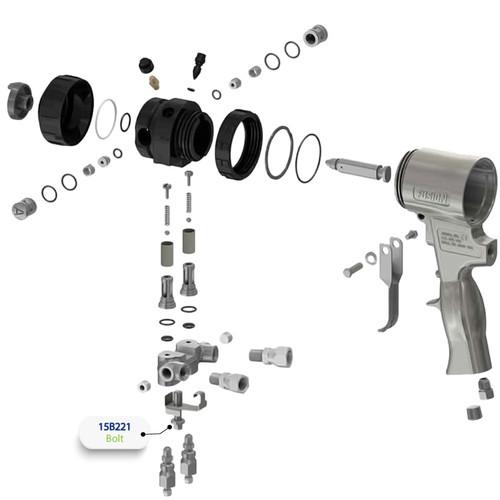 5/16-24  Bolt for Graco Fusion Air Purge (AP) Spray Gun