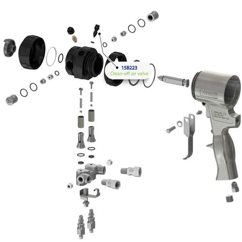 Clean Off Air Valve for Graco Fusion Air Purge (AP) Spray Gun