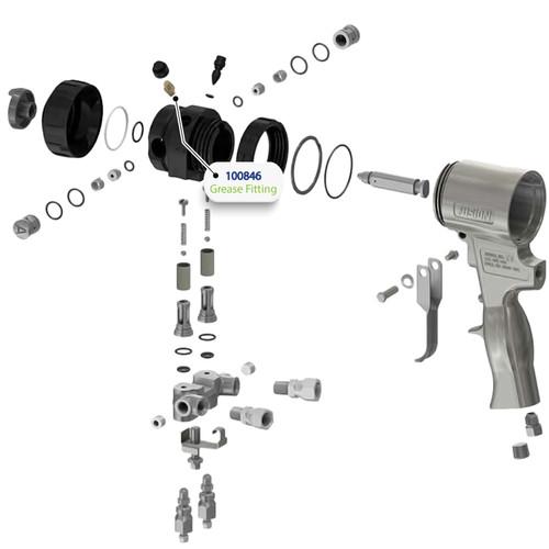 Grease Fitting for Graco Fusion Air Purge (AP) Spray Gun