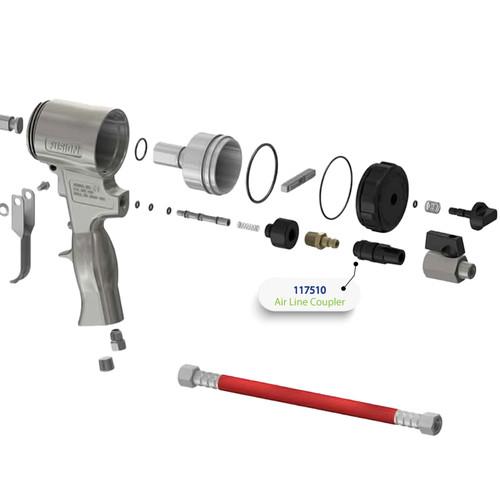 1/4 NPT Air Line Coupler for Graco Fusion Air Purge (AP) Spray Gun