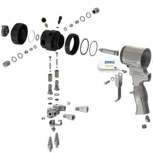 Screw for Graco Fusion Air Purge (AP) Spray Gun