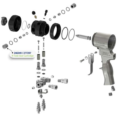 A Side Seal Cartridge for Graco Fusion Air Purge (AP) Spray Gun