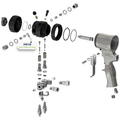 Side Seal O-Ring for Graco Fusion Air Purge (AP) Spray Gun