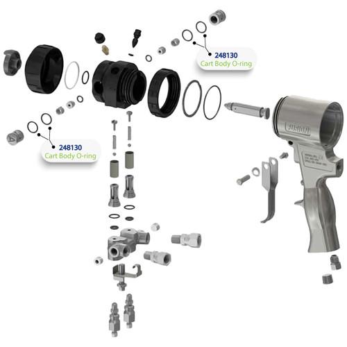 Cart Body O-Ring for Graco Fusion Air Purge (AP) Spray Gun