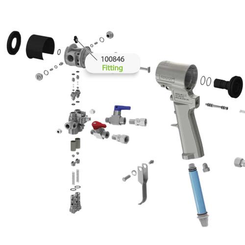 Fitting for Graco Fusion CS Spray Gun
