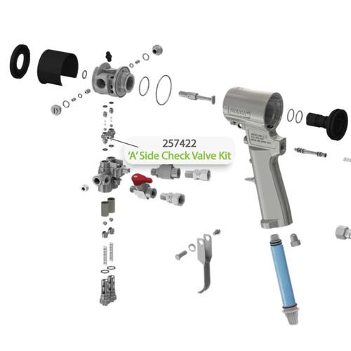 A-Side Check Valve Kit for Graco Fusion CS Spray Gun