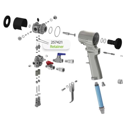 Retainer for Graco Fusion CS Spray Gun