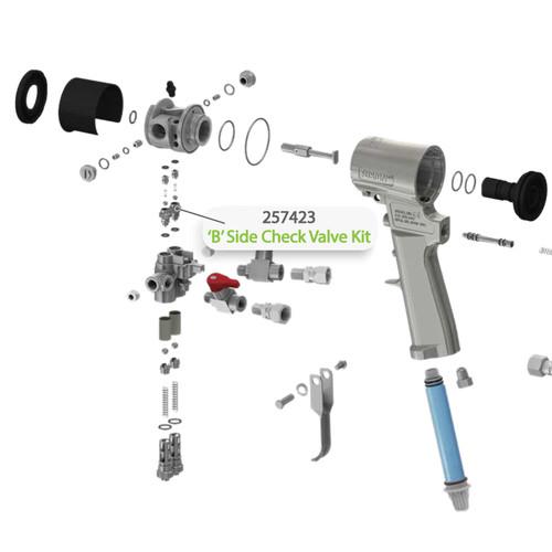 B-Side Check Valve Kit for Graco Fusion CS Spray Gun