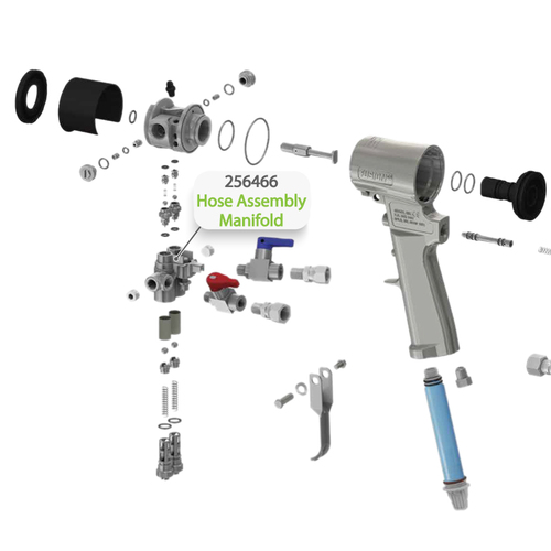 Hose Assembly Manifold for Graco Fusion CS Spray Gun