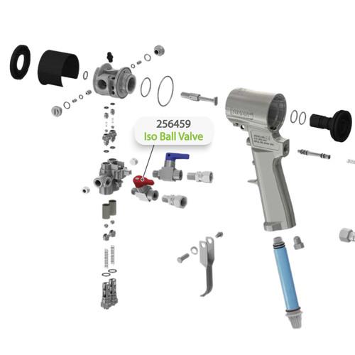 Iso Ball Valve for Graco Fusion CS Spray Gun