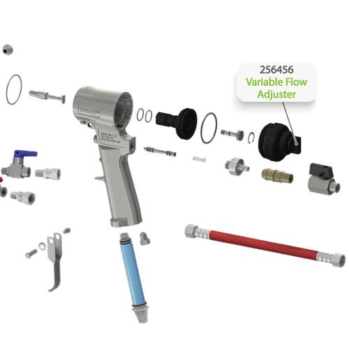 Variable Flow Adjuster for Graco Fusion CS Spray Gun