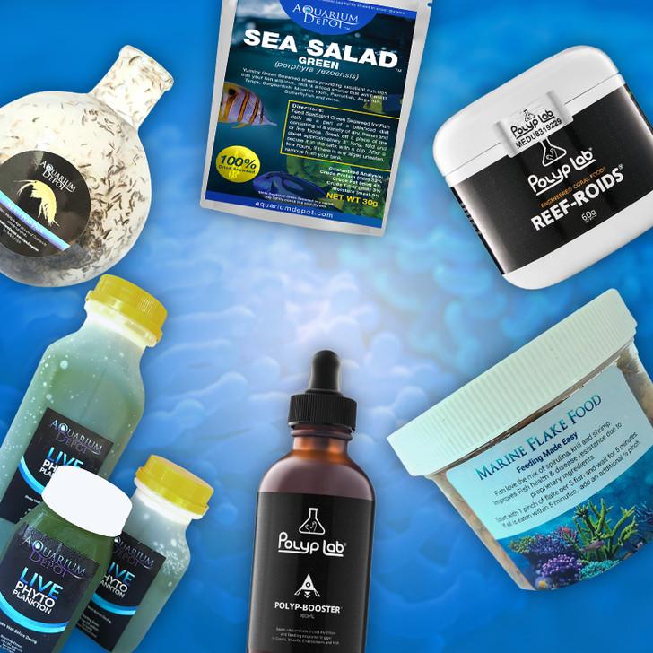 Complete Food Pack for Reef Aquarium - Large