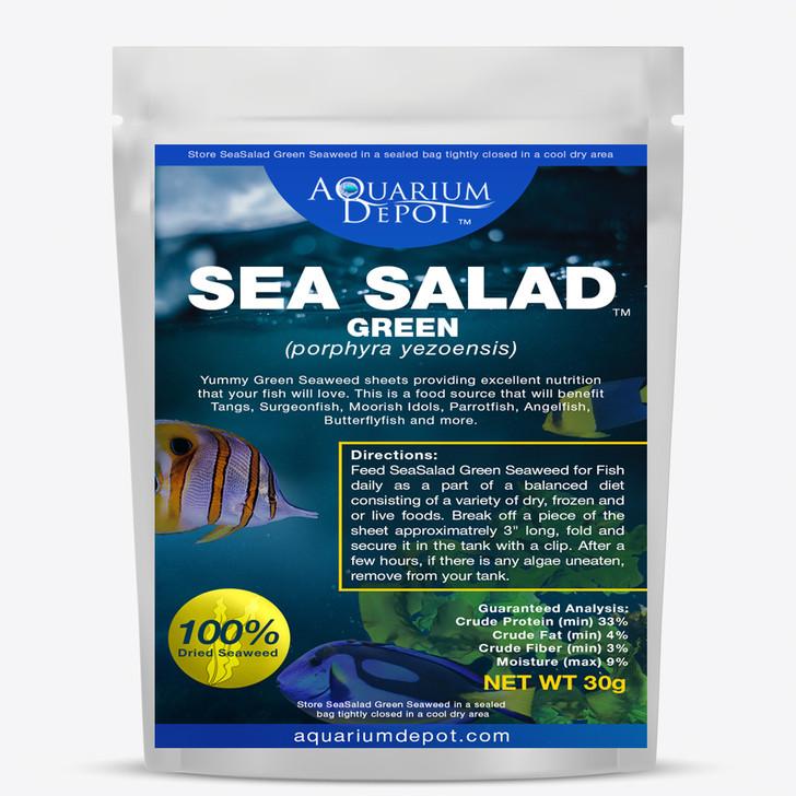 Green Sea Salad dried Algae for Fish Food - 30g