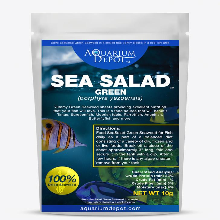 Green Sea Salad Dried Algae for Fish Food - 10g
