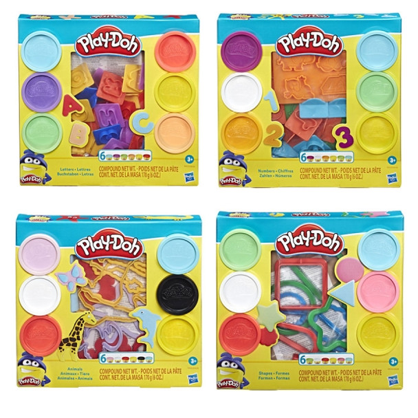 Hasbro Play-Doh Fundamentals Playsets (6PK) MSRP:$9.99