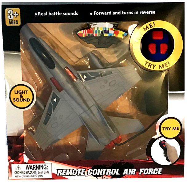 Remote Control Air Force Jet With Light &Sound (3PK)